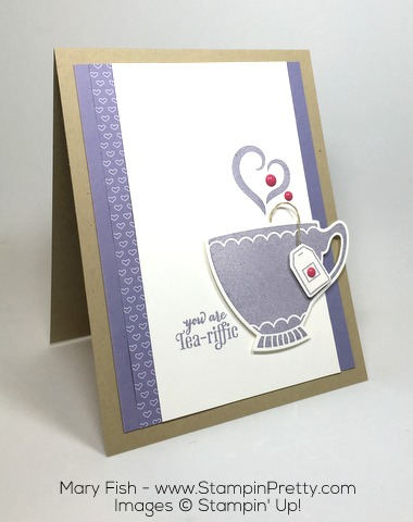 Stampin Up! Nice Cuppa Cups Kettle Framelits Die Card Ideas by Mary Fish