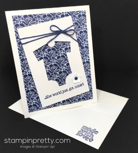 Stampin Up Baby's First Made with Love Baby Card Ideas - Mary Fish StampinUp A