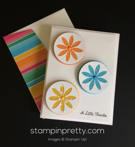 Stampin Up Succulents Thank You card - Mary Fish stampinup