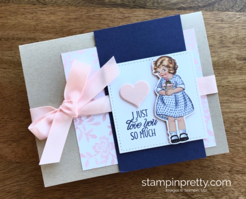 Stampin Up Birthday Friends Framelits Dies Love Card - Mary Fish StampinUp
