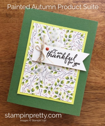 Stampin Up Painted Harvest Thank You Cards Ideas - Mary Fish StampinUp