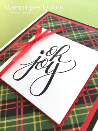 How to Create a Simple Holiday Card Using Watercolor Christmas - Mary Fish - stampinpretty.com