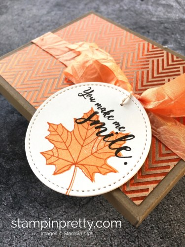 Stampin Up Treat Holder Fall foil frenzy paper StampinUp