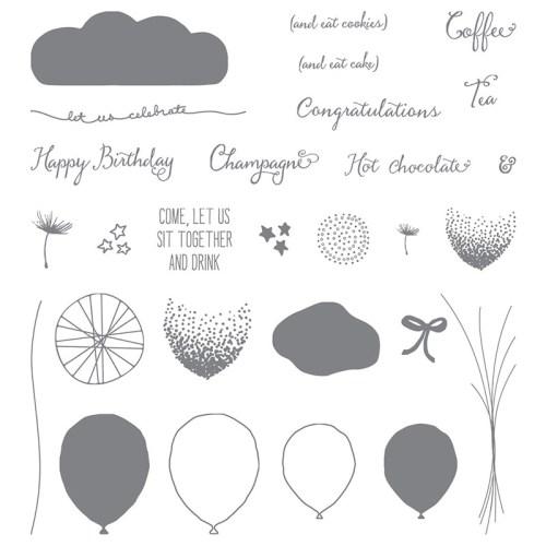 Balloon Celebration Photopolymer Stamp Set 140675