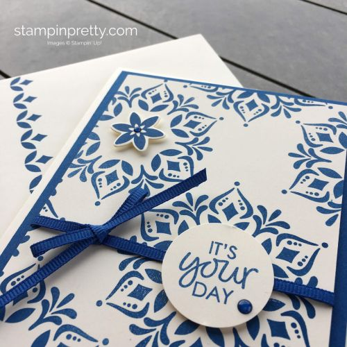 Create a Birthday Card using the Happiness Surrounds Stamp Set by Stampin' Up! Mary Fish, Stampin' Pretty