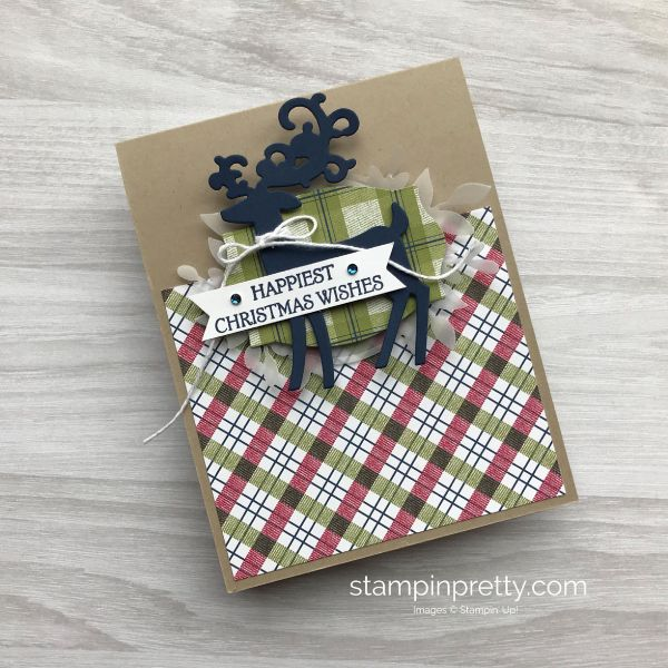 Create this Christmas Card using the Dashing Deer Bundle by Stampin' Up! Mary Fish, Stampin' Pretty
