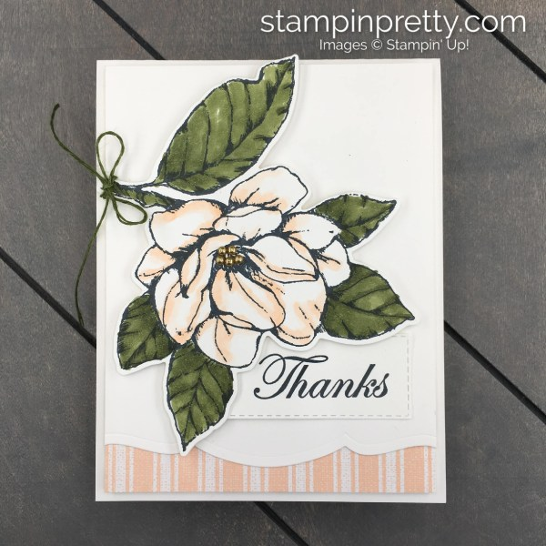 Good Morning Magnolia Bundle by Stampin' Up! Stampin' Blends to create floral drama. Card created by Mary Fish, Stampin' Pretty