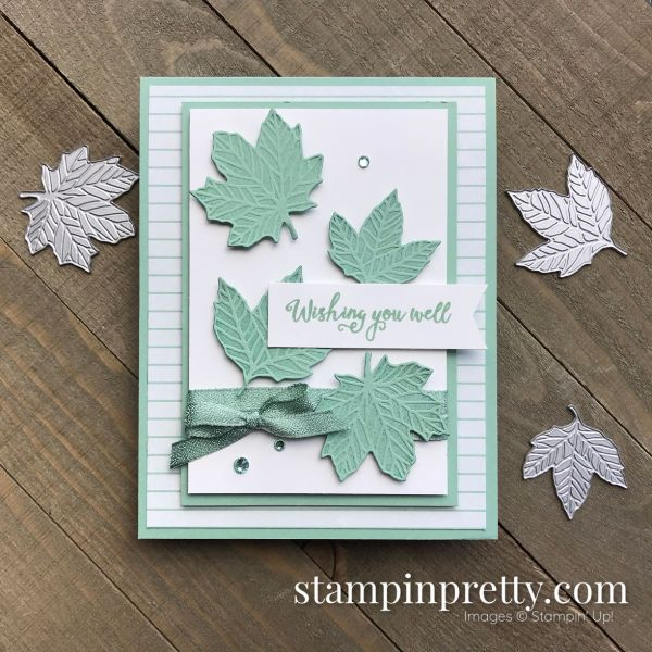 Come to Gather Suite Wishing You Well Mint Macaron Handmade Card, Mary Fish, Stampin' Pretty