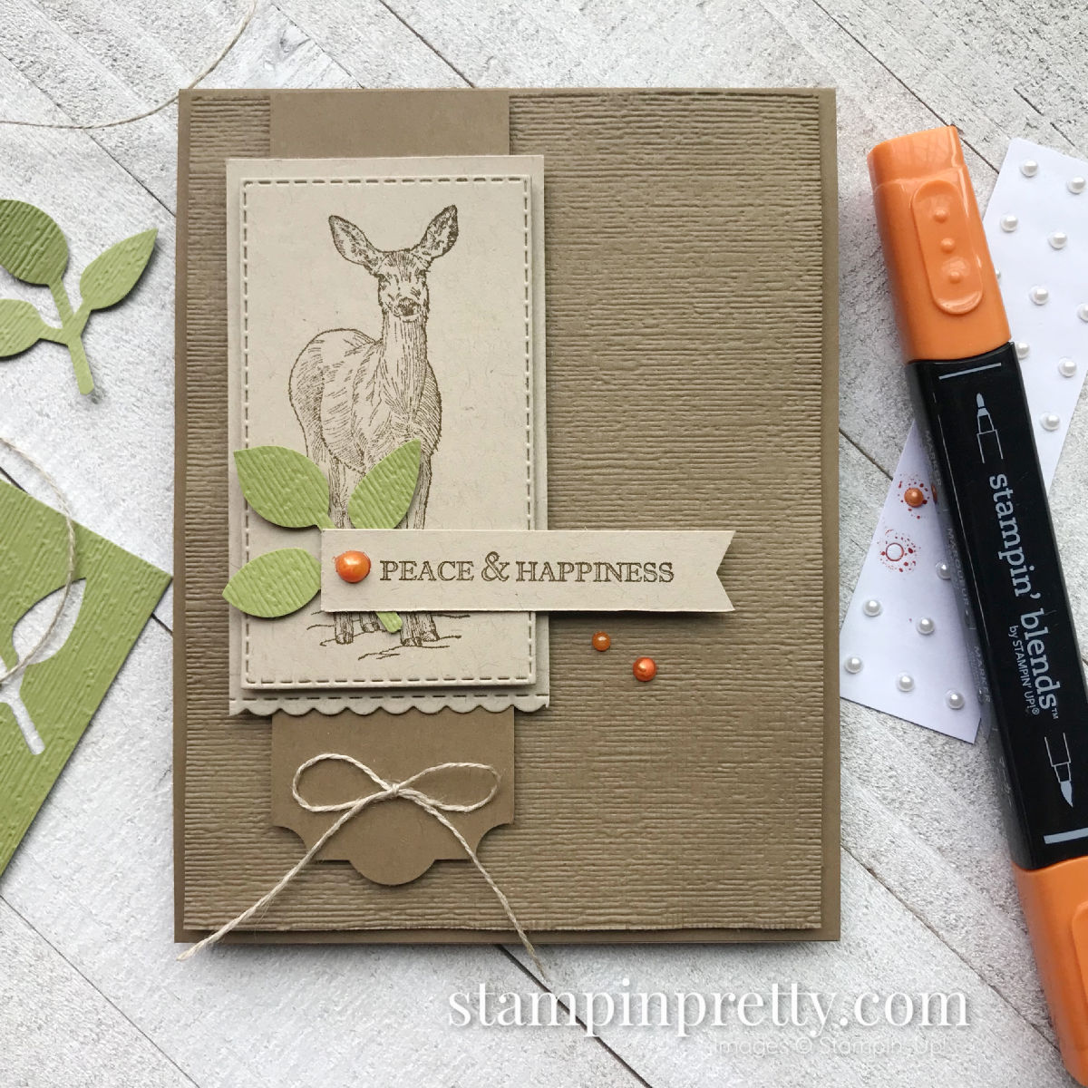 Create this card using the Nature's Beauty Making A Difference Stamp Set by Stampin' Up! Created by Mary Fish, Stampin' Pretty #maryfish #stampinpretty
