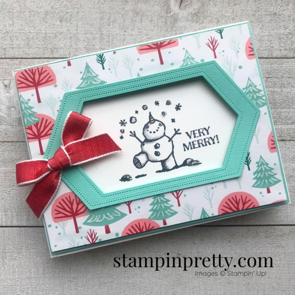 Snowman Season from Stampin' Up! Very Merry Christmas Card by Mary Fish, Stampin' Pretty