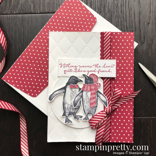 Playful Penguins Stamp Set from Stampin' Up! Card by Mary Fish, Stampin' Pretty