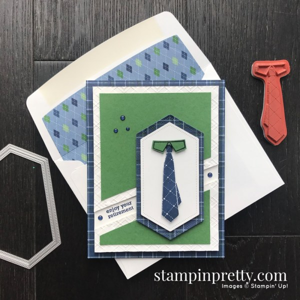 Well Dressed Sale-A-Bration Stamp Set by Stampin' Up! Masculine Retirement Card by Mary Fish, Stampin' Pretty