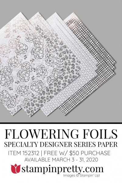 FLOWERING Foils DSP by Stampin' Up! 152312 FREE with $50 Purchase