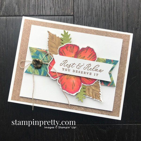 Tropical Oasis Suite from Stampin' Up! Rest & Relax Card by Mary Fish, Stampin' Pretty #sps003