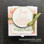 Create this Happy Easter Mini Pizza Gift Box using the Welcome Easter Stamp Set by Stampin