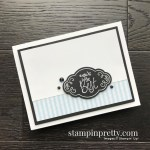 Create this handmade card using the Label Me Pretty Stamp Set by Stampin