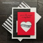 Create this handmade card using the Music From the Heart Stamp Set by Stampin