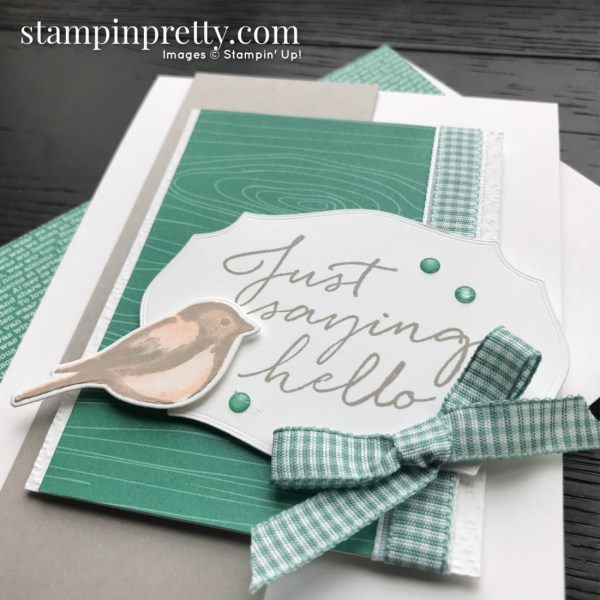 Create this card using the Tasteful Touches and Birds & Branches Bundles From Stampin' Up! SNEAK PEEK Card by Mary Fish
