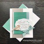 Create this card using the Tasteful Touches and Birds & Branches Bundles From Stampin