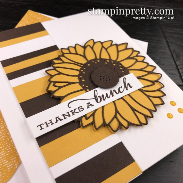 SNEAK PEEK! Celebrate Sunflowers Bundle from Stampin' Up! Card by Mary Fish, Stampin' Pretty Slant