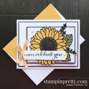 Celebrate Sunflowers Bundle From Stampin' Up! Let's Celebrate You Card by Mary Fish, Stampin' Pretty (1)