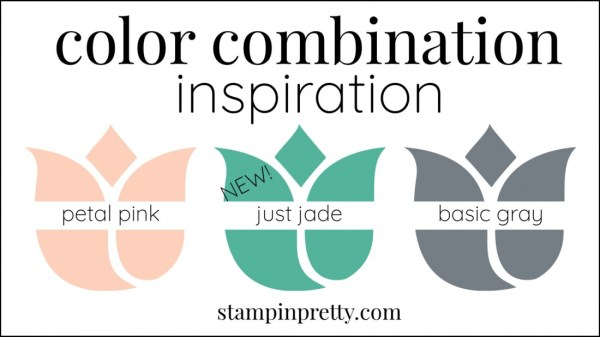 Color Combinations Just Jade, Petal Pink, Basic Gray
