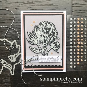 Create this card using the Prized Peony Bundle from Stampin' Up! Card by Mary Fish, Stampin' Pretty