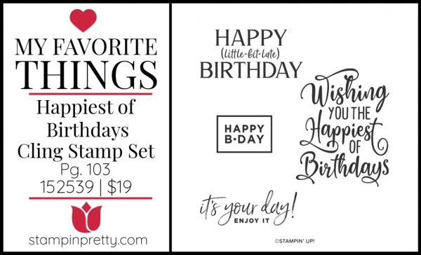 My Favorite Things - Happiest of Birthdays Stamp Set