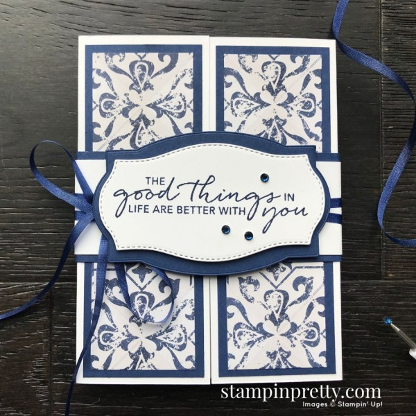 Create this card using the In Good Taste Suite, Tasteful Touches Bundle by Stampin' Up! Card my Mary Fish, Stampin' Pretty