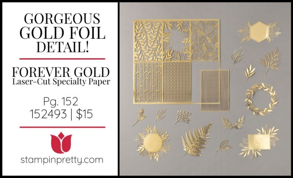 Forever Gold Laser-Cut Specialty Paper by Stampin' Up! Shop Online 24_7 with Mary Fish, Stampin' Pretty
