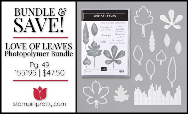 Bundle & Save Love of Leaves Bundle from Stampin' Up! 155195 $47.50