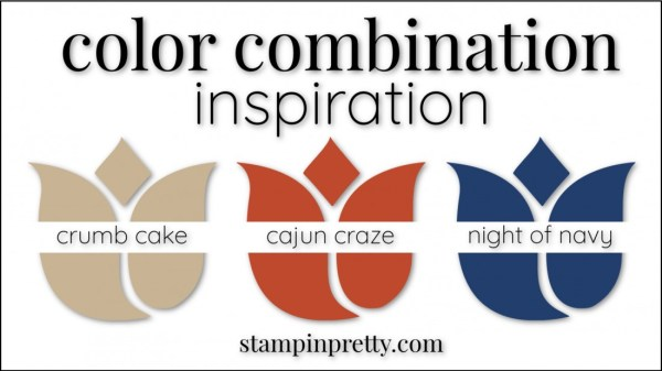 Color Combinations Cajun Craze, Crumb Cake, Night of Navy