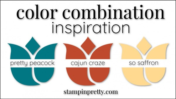 Color Combinations Cajun Craze, Pretty Peacock, So Saffron