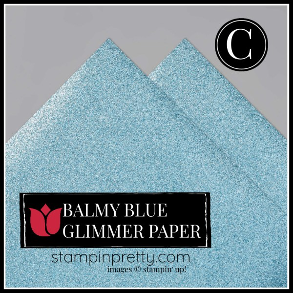 Balmy Blue Glimmer Paper Item 153513 Option C