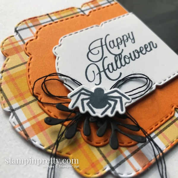 Create this Halloween Card using the Plaid Tidings Suite from Stampin' Up! Mary Fish, Stampin' Pretty