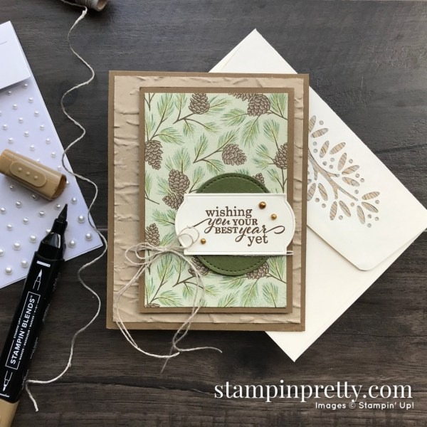 Create this Masculine Birthday Card using Poinsettia Place Designer Series Paper from Stampin' Up! Card by Mary Fish, Stampin' Pretty