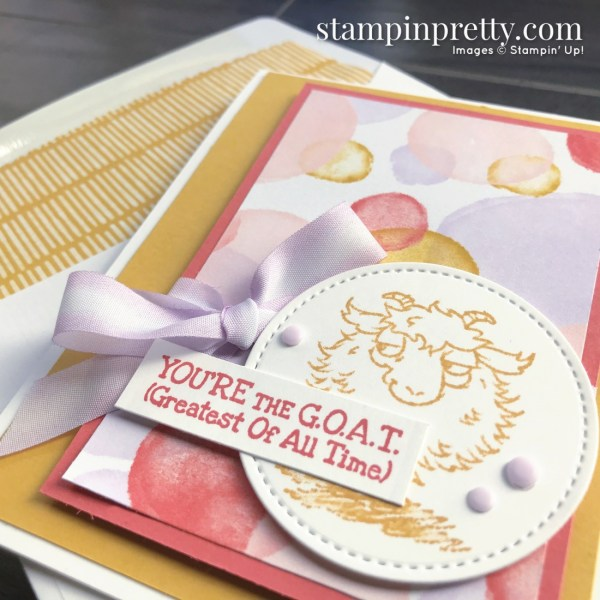 Way to Goat Stamp Set & Playing with Patterns DSP from Stampin' Up! Card by Mary Fish, Stampin' Pretty