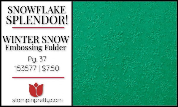 Winter Snow Embossing Folder from Stampin' Up! 153577 $7.50