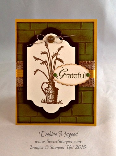 Pals Paper Crafting Card Ideas Thanksgiving Mary Fish Stampin Pretty StampinUp