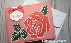 rose wonder wedding card