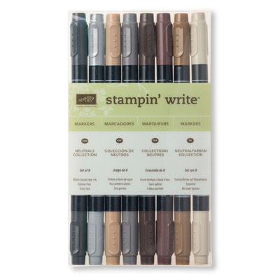 neutrals collection stampin write markers
