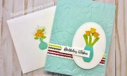 Varied Vases birthday card front