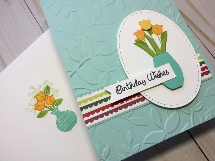 Varied Vases birthday card closeup