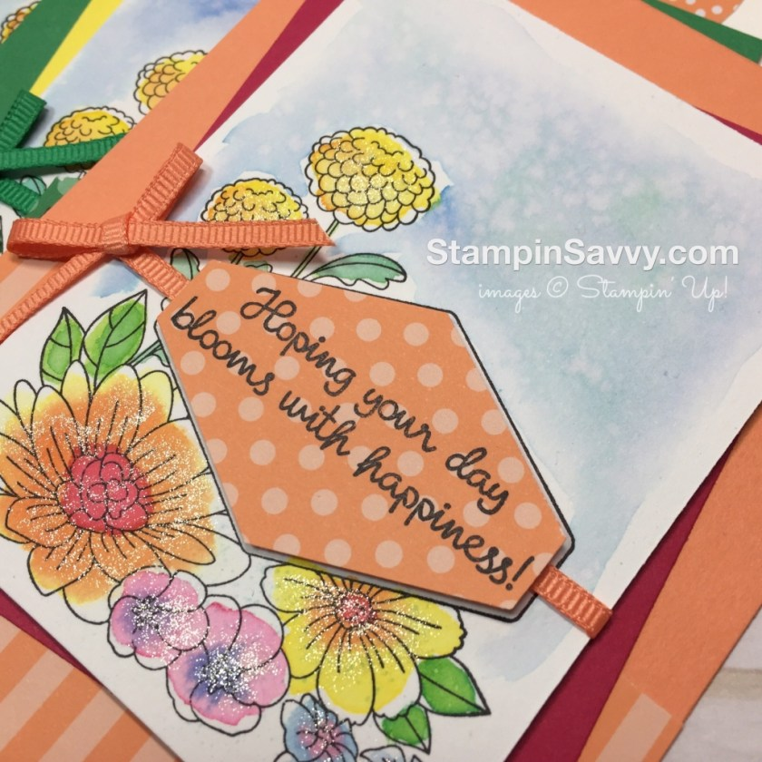 easy watercolor cards accented blooms card ideas stampinup stampin up stampin savvy stampinsavvy tammy beard