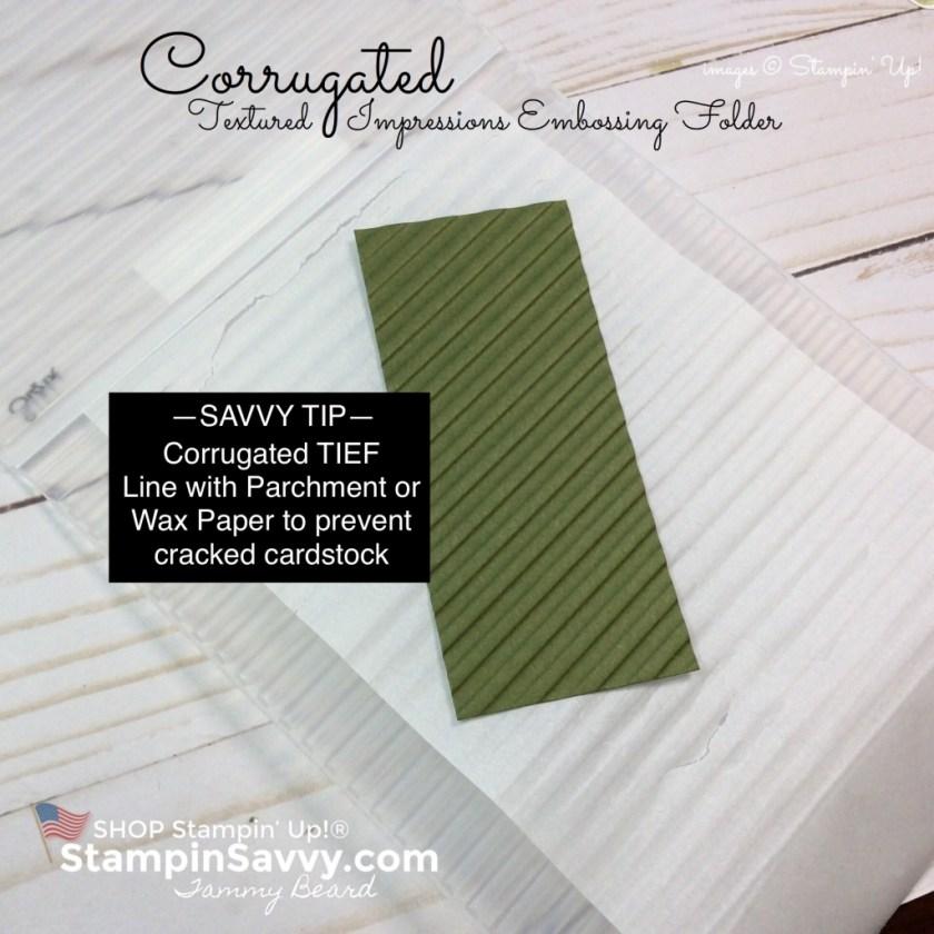 corrugated tief, embossing folders, stampin up, stampinup, stampin savvy, tammy beard