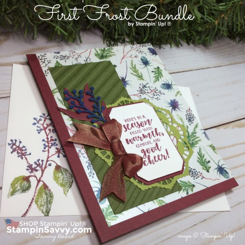 frosted floral suite, stampin up cards, christmas cards, stampinup, card ideas, stampinup, stampin savvy, tammy beard