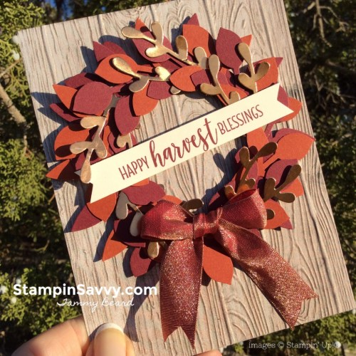 cards with punches, leaf punch, sprig punch, stampin up, triple banner punch, country home stamps, stampinup, stampin savvy, tammy beard