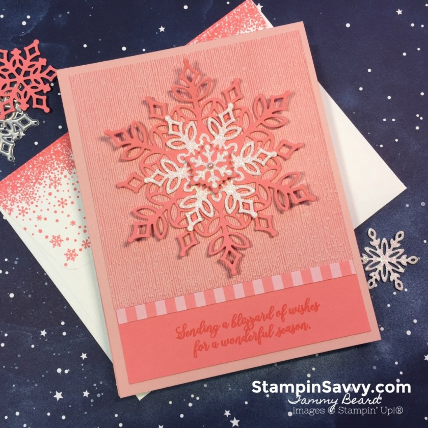 embossing technique, snow is glistening, stampin up, subtle embossing folder, stampin savvy, tammy beard