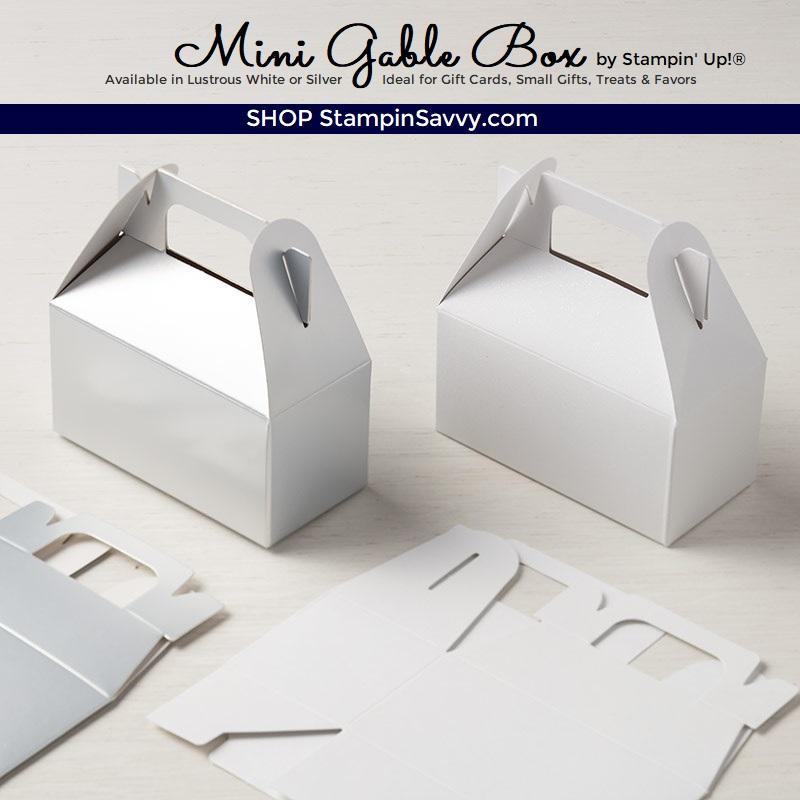 Stampin\u2019 UP 12 Silver Mini Gable Boxes