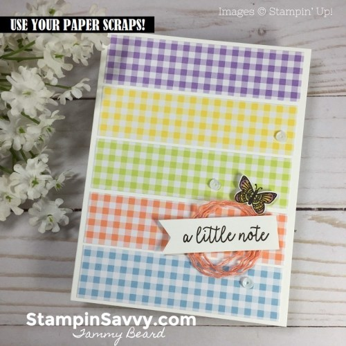 card-made-from-paper-scraps-gingham-gala-dsp-butterfly-gala-stampin-savvy-tammy-beard-stampin-up-stampinup